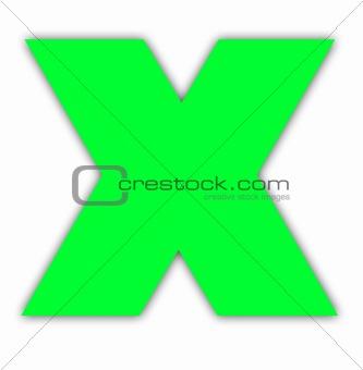 Green cross mark