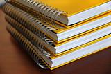 Yellow notebooks stack