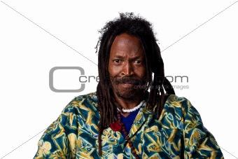 Annoyed rastafarian