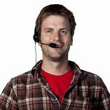 Call center worker
