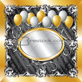 Gold & Silver Balloon Background