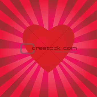 A pulsating heart