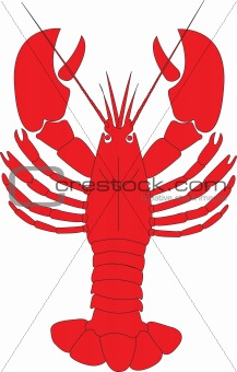 A red lobster