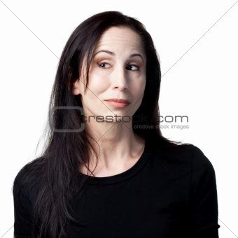 Flirting older woman