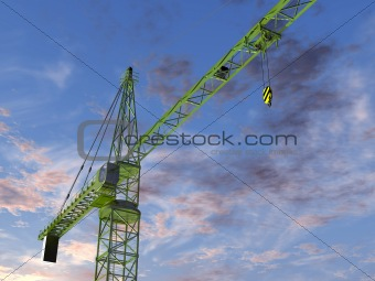 Tower Crane at Twilight