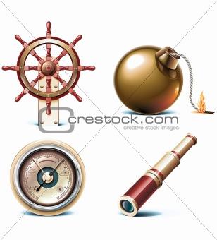 Vector marine travel icons. Part 3