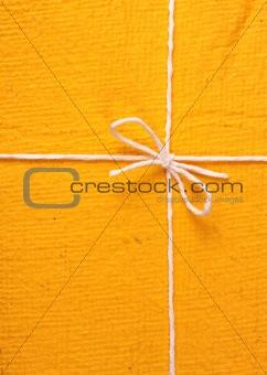 Close up of handmade gift box