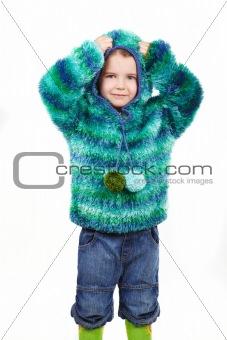 Little girl in fur coat 2