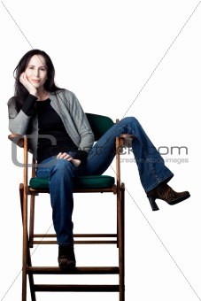 Actress in her chair