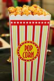 shot of yummy caramel popcorn