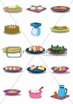 Food in vector