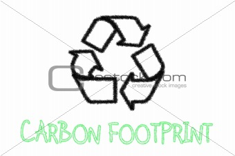 Carbon footprint recycle sign