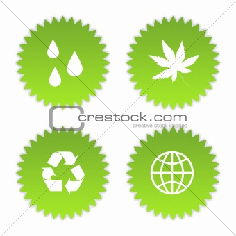 Green eco symbols