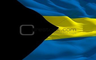 Waving flag of Bahamas