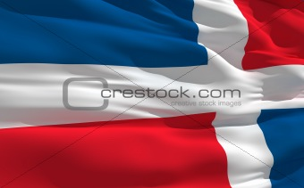 Waving flag of Dominican Republic