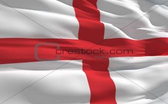 Waving flag of England