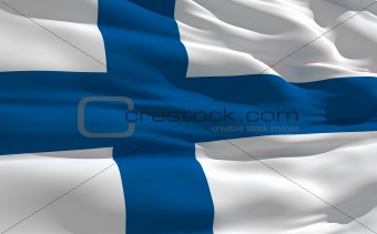 Waving flag of Finland