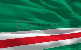 Waving flag of Ichkeria