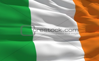 Waving flag of Irlande
