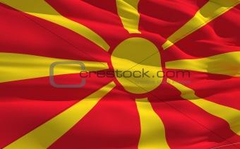 Waving flag of Macedonia