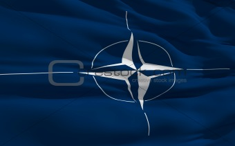 Waving flag of Nato
