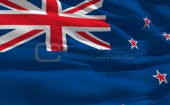 Waving flag of Zealand