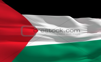 Waving flag of Palestine