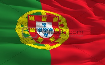 Waving flag of Portugal