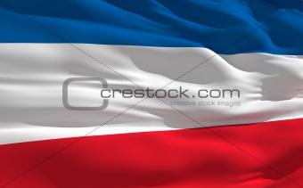 Waving flag of Serbia