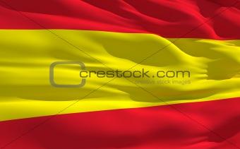 Waving flag of Spain