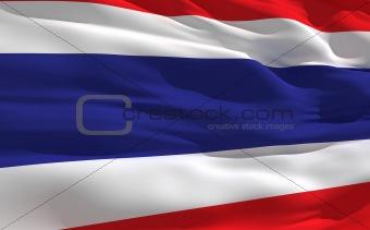 Waving flag of Thailande