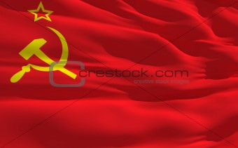 Waving flag of Soviet Union