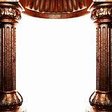 bronze columns and arch