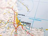 Map of Gdansk