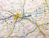 Map of Dijon
