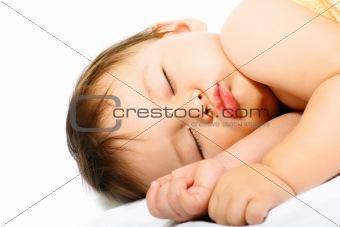 Adorable sleeping baby