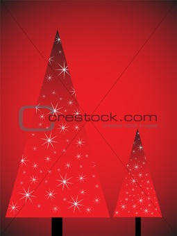 abstract christmas trees