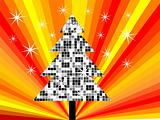 disco christmas tree