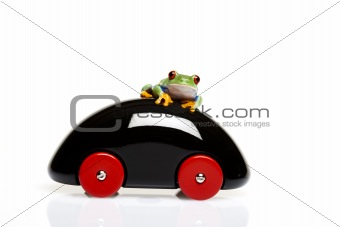 Car toy and crazy frog