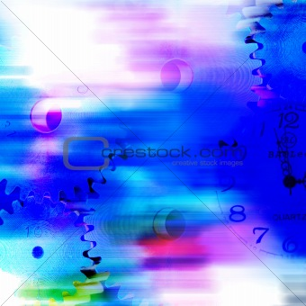 abstract color gear and watch background
