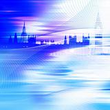 abstract blue building background