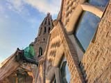 Sagrada Familia from the Ground, Barcelona, Spain