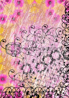 grunge flowered background