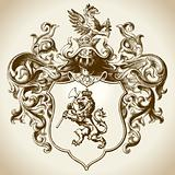 Ornate Heraldic Emblem