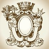 Ornate Heraldic Emblem 2