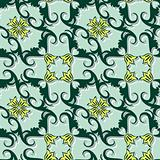 Seamless floral ornament pattern
