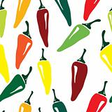 Seamless pepper pattern