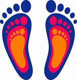 Symbol of the family: three footprints