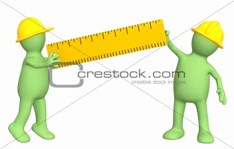 3d builders with ruler