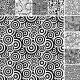 Seamless uncolored patterns